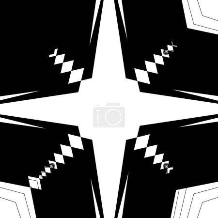 Monochrome glitchy pattern.