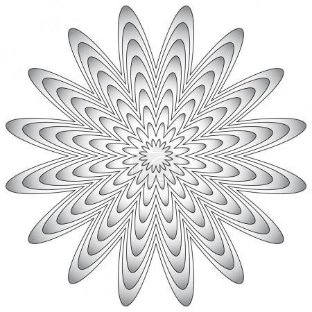 Radial geometric element.