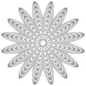 Radial geometric element