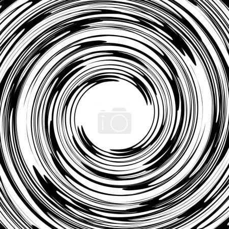 Rotating spiral element