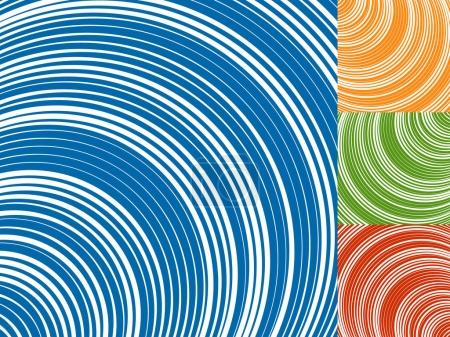 Illustration for Abstract radiating lines texture with concentric circles - Royalty Free Image