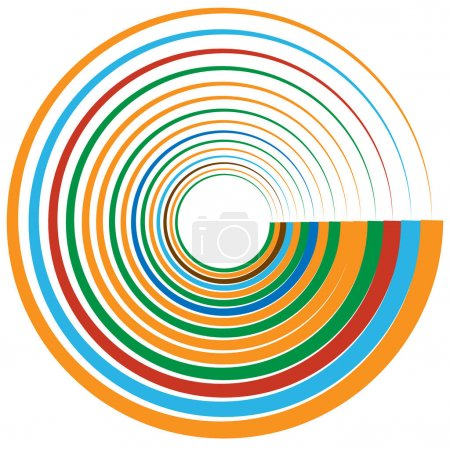 decorative concentric rings