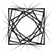 Intersecting lines forming geometric square shape,...