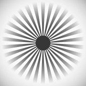 Starburst in form of radial lines