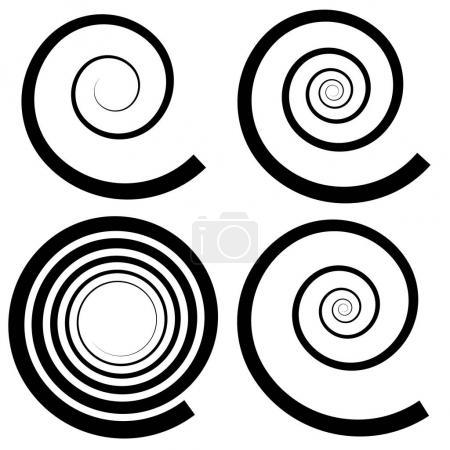Set of spiral design elements