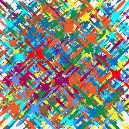 Ilustración de Ilustración moteado de colores al azar formas superpuestas, vector, Ilustración - Imagen libre de derechos
