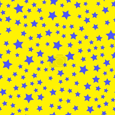 Seamless pattern with random scattered shapes