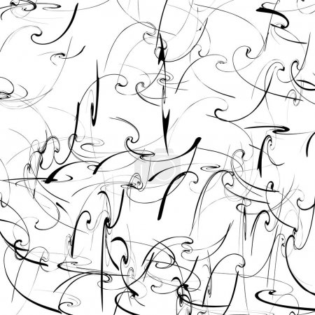 Illustration for Black and white artistic pattern with curvy distortion effect, vector, illustration - Royalty Free Image
