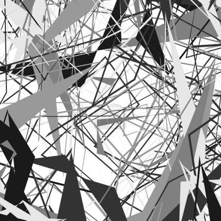 Geometric monochrome texture
