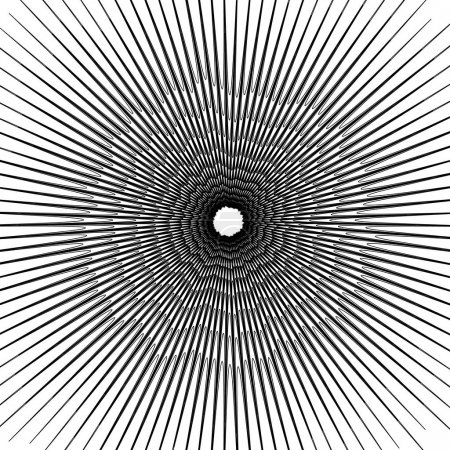 Concentric circular pattern