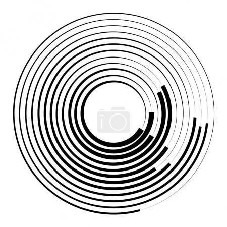 Radial, radiating circular graphic.