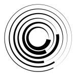 Concentric circles geometric element. Radial, radi...
