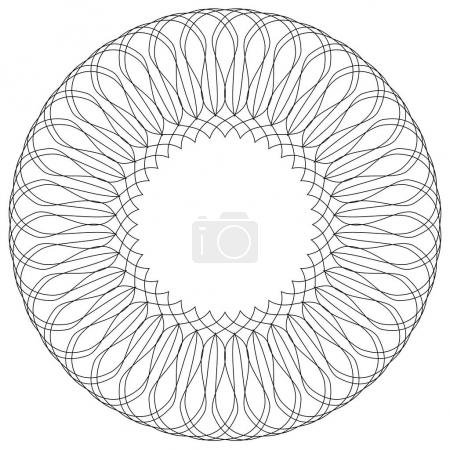 Illustration for Geometric circular pattern. Abstract motif with radiating intersecting lines - Royalty Free Image