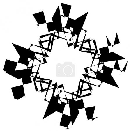 Abstract black and white spiral illustration