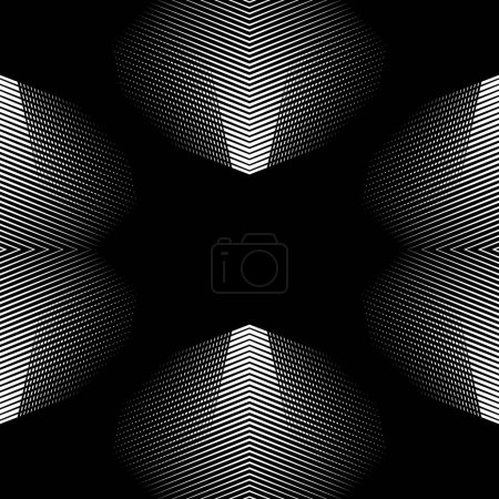 grid background with mirrored geometry