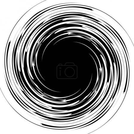 Irregular concentric lines