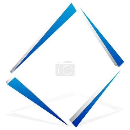 element abstract square symbol.