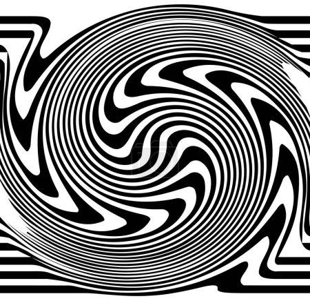 Ilustración de Líneas distorsionadas. Ondulación, Molinete distorsionadas líneas abstractas - Imagen libre de derechos
