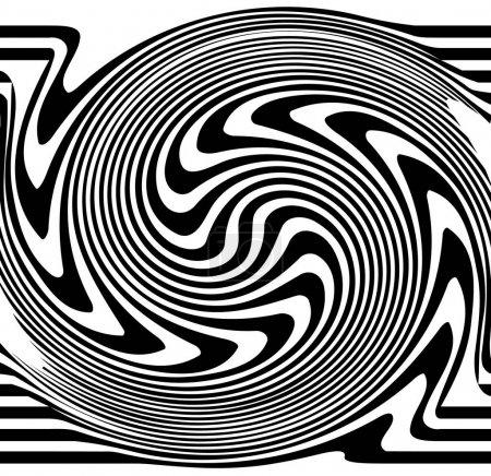 Ilustración de Líneas distorsionadas. Ondulación, Molinete distorsionadas líneas abstractas, Ilustración de vectores - Imagen libre de derechos