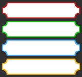 Web rectangular buttons set