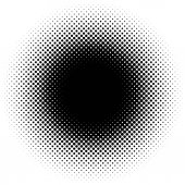 Black halftone circle gradient specks vector illustration