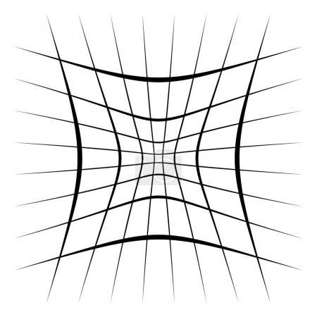 Ilustración de Red, malla, enrejado con distorsión, efecto de deformación, Ilustración de vectores - Imagen libre de derechos