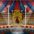 Circus carnival tent marquee amusement family them...