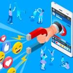 Social influencer concept. Media content to grab l...
