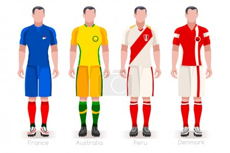 World Cup Group C Jerseys Kit