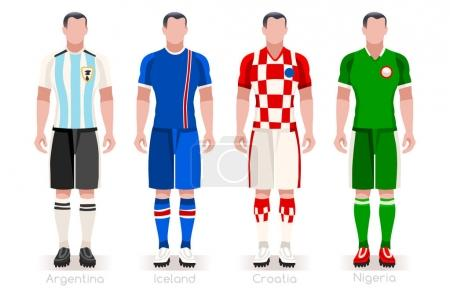 World Cup Group D Jerseys Kit