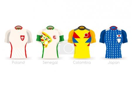 World Cup Group H Team Uniform