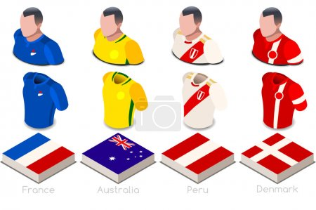 World Cup Group C Jersey Set
