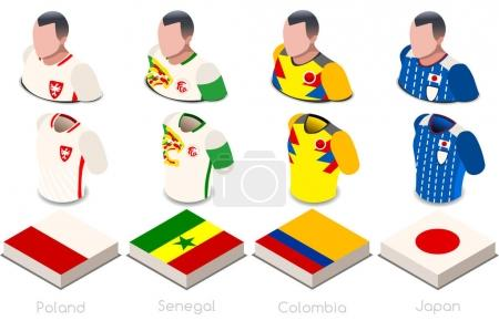 World Cup Group H Jersey Set