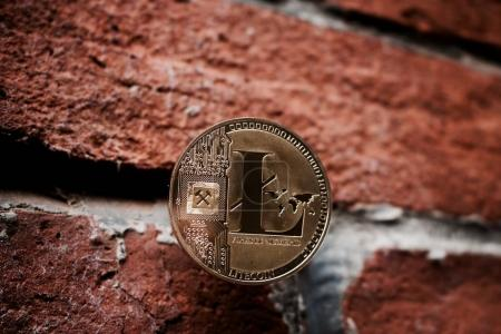Gold Litecoin coin
