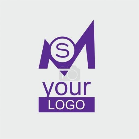 MS Initial violet logo.