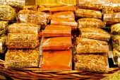sale of spices bags with hot