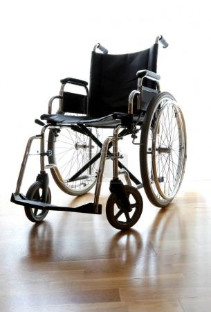 wheelchair in the bedroom of the medical clinic for rehabilitati