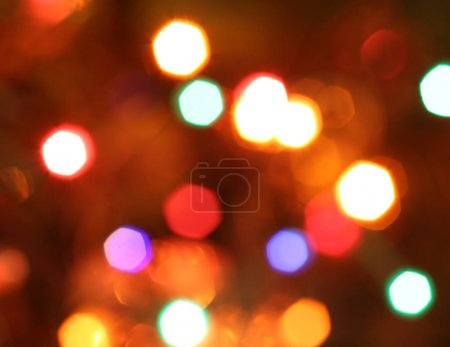Intensely blurred background with bright lights
