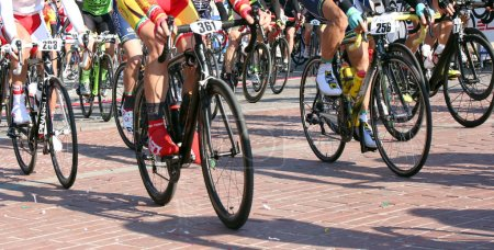 Vicenza, Italy - April 30, 2017: cycling race called Gran Fondo