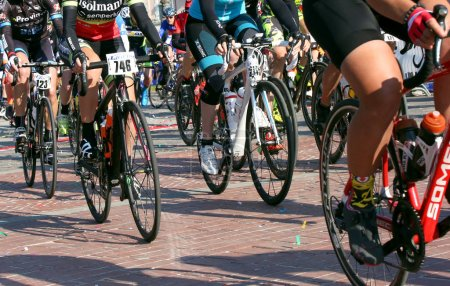 Vicenza, Italy - April 30, 2017: cycling race called Gran Fondo
