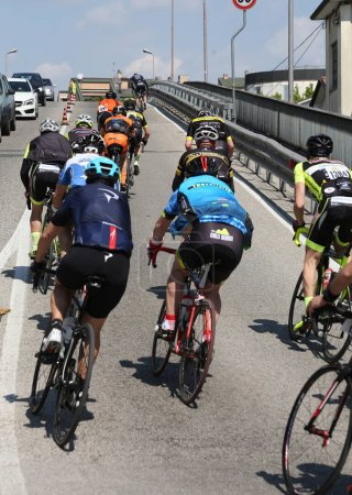 Vicenza, Italy - April 30, 2017: important cycling race with man