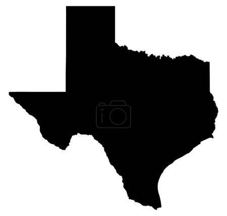 US Texas map illustration...
