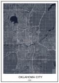 map of the city of Oklahoma Oklahoma City USA