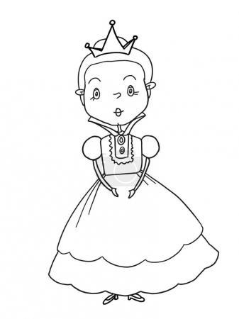 King princess prince castle illustration drawing c...