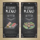 """Постер, картина, фотообои """"Набор Ресторан меню мелом рисунок баннеров"""""""