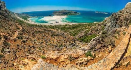 Photo pour Grèce, Crète Balos plage. Panorama de la colline - image libre de droit