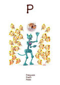 Russian Alphabet series of Amusing Animals letter 18 (all 33)