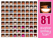 vector SET-81  Female avatar collection 35