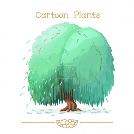 Plantae series cartoon plants: weeping willow
