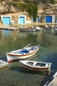Mandrakia village in Milos in Greece